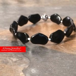 Men's Bracelet: Azabache and 925 Sterling Silver